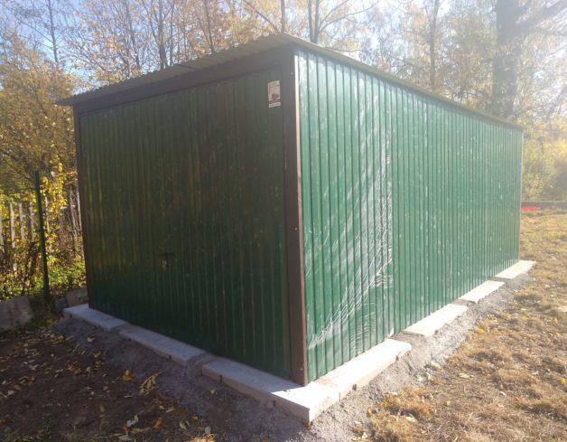 GARAŻ BLASZANY 3 x 5 m ZIELONY+ Brama Podnoszona