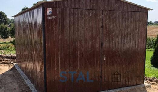 Garaże blaszane drewnopodobne na wymiar